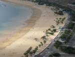 one of Tenerifes nicest beaches: Playa de las Teresitas, close to Santa Cruz