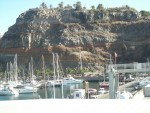 steep coast by the harbour of San Sebastian on La Gomera