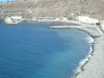 beach and harbour of Playa Santiago on La Gomera island