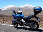 Kawaski Versys in front of Teide